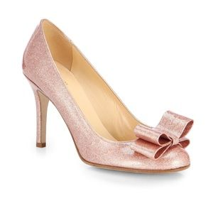 NIB Kate Spade Krysta Rose Gold Glitter Pumps